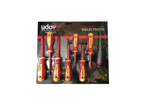 juego destornilladores dielectricos 1000v udovo + buscapolo