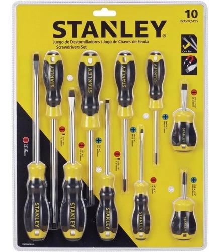 juego destornilladores stanley 10 pzas stmt66676-840