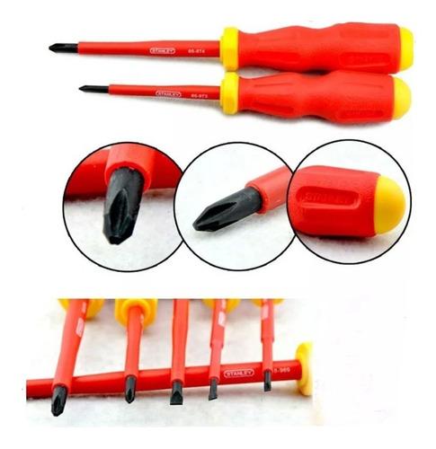 juego destornilladores stanley electrico 1000v 7 pzas 65980