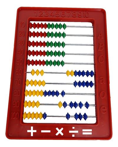 juego didáctico abaco colores niños escolares supergym