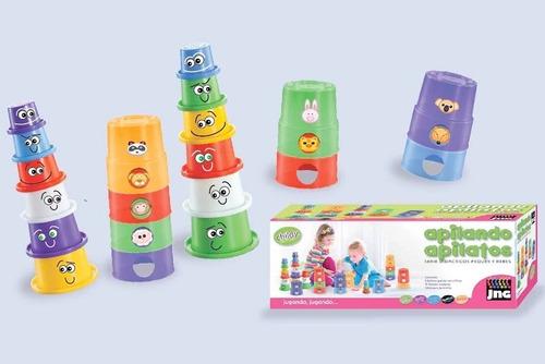 juego didactico apilando apilatos jng con stickers july toys