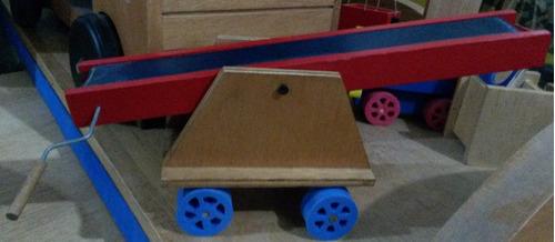juego didactico banda transportadora hecho en madera