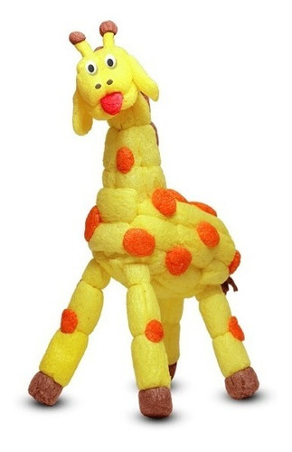 juego didactico bloque estimula creatividad jirafa moldeable