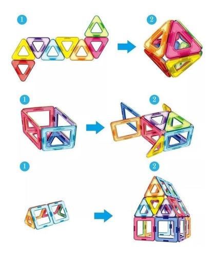 juego didactico bloques imanes magneticos magnetic 20 pieza