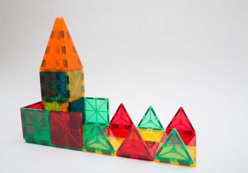 juego didactico bloques magnific imanes magnéticos 32 piezas