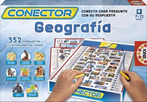 juego didáctico de mesa conector geografía, preguntas y resp