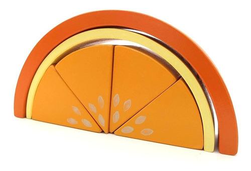 juego didactico encastre madera naranja montessori waldorf