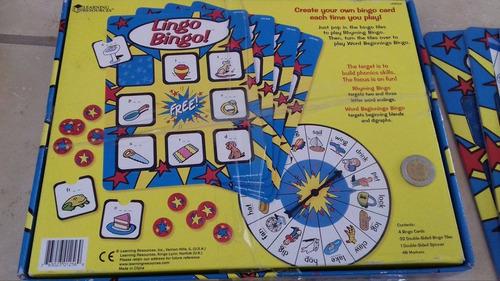 juego didáctico lingo bingo