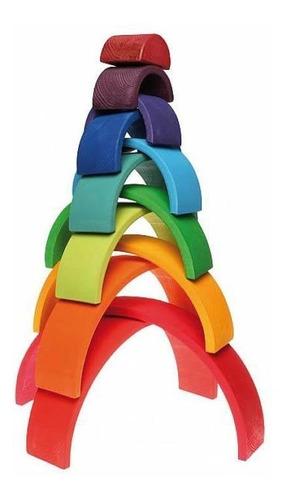 juego didactico madera encastre arco iris montessori waldorf