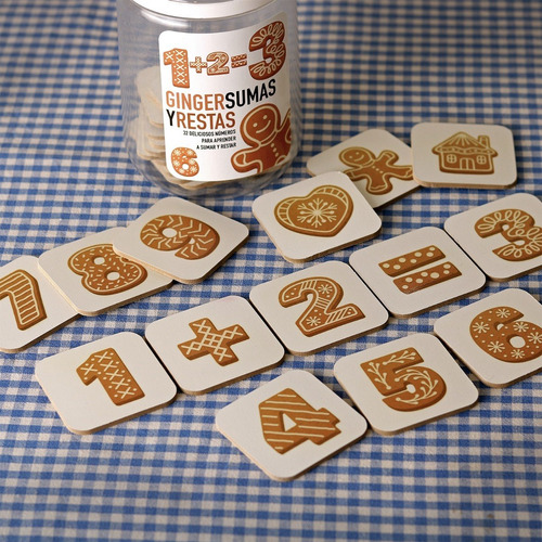 juego didáctico madera números suma y resta