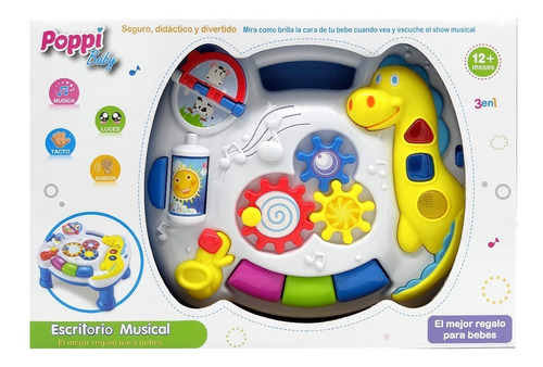 juego didactico mesa musical interactiva luz y sonido poppi