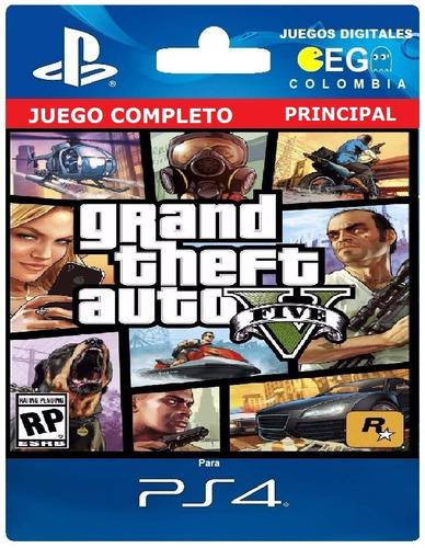 juego digital grand theft auto 5 gta v ps4 cuenta primaria