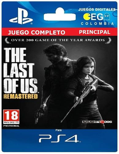 juego digital the last of us remastered ps4 entreg inmediata