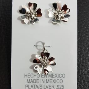 109db22409da Aretes Plata 925 Modelo Flores - Collares y Cadenas Plata Sin ...