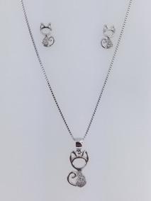 a11010f9a801 Set Aretes Y Cadena Frozen - Collares y Cadenas Plata Sin Piedras en  Mercado Libre México