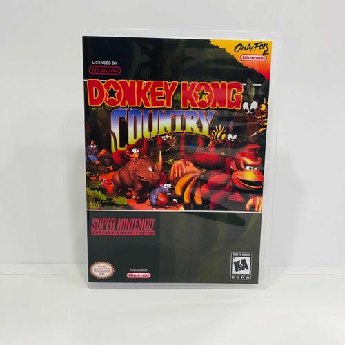 juego donkey kong country snes repro + envío gratis