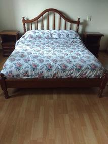 Juego Dormitorio Cama 2 Pzas Mesas Luz Cómoda Espejo