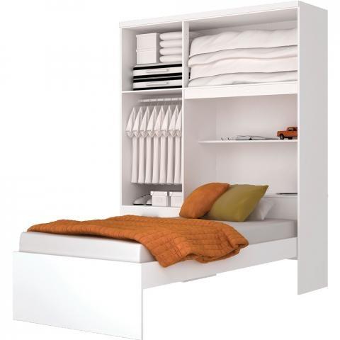 Juego dormitorio cama con ropero incorporado mobelstore for Cama ropero
