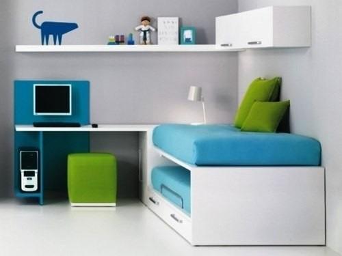 juego dormitorio juvenil cama escritorio muebles tuestilo