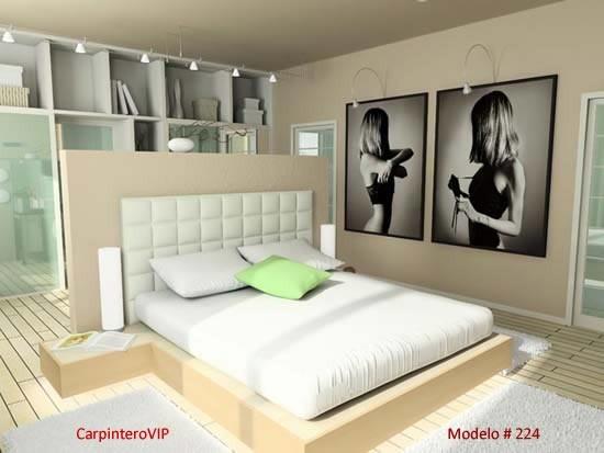 Juego dormitorio matrimonial queen king estilo minimalista   bs ...