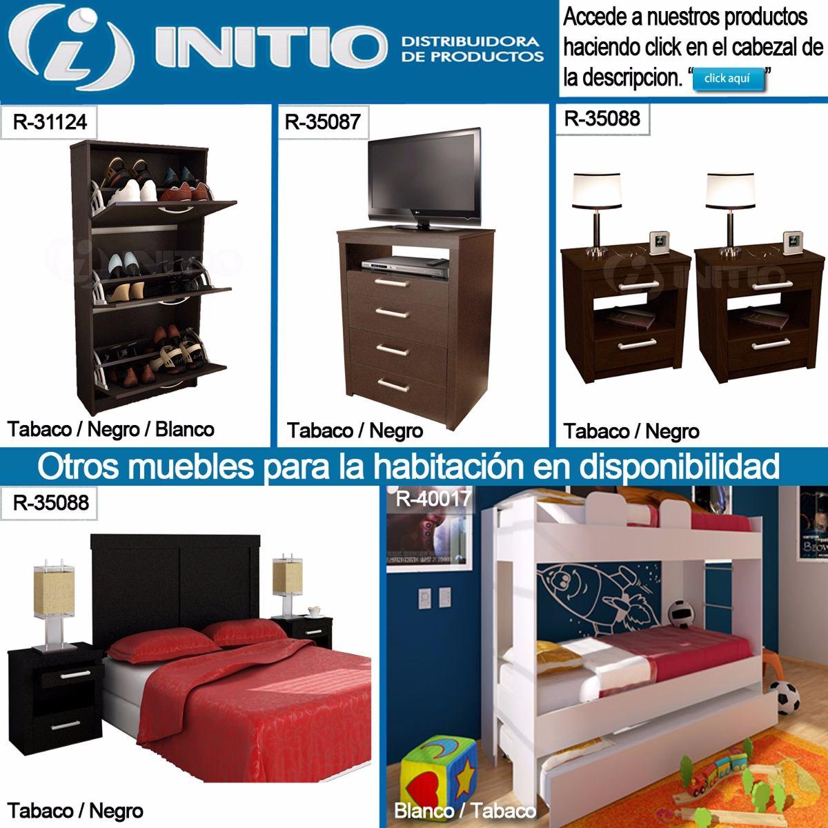 Juego Dormitorio Respaldo Sommier + 2 Mesas Luz Melamina - $ 5.257 ...