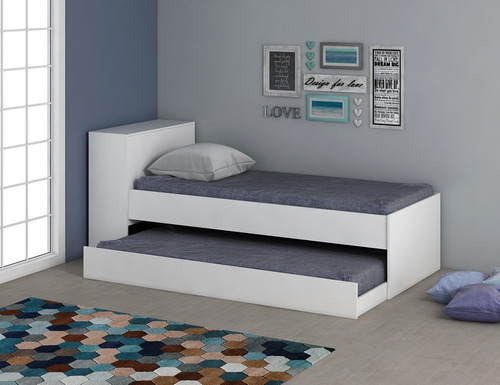 juego dormitorio ropero 4 puertas + cama marinera