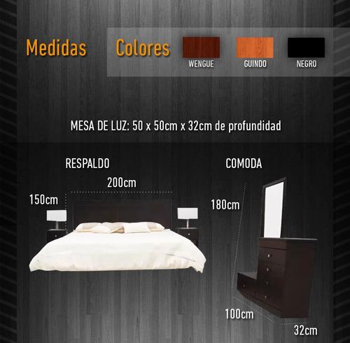juego dormitorio3, respaldo,cómoda,2mesas de luz* tope hogar