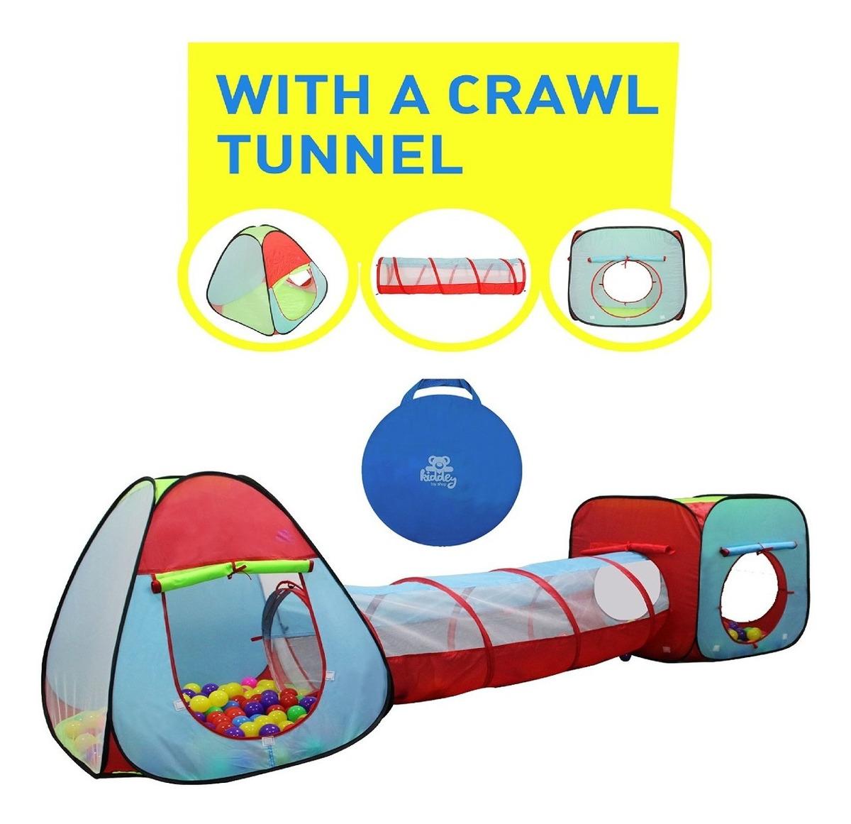 Exterior Regalo para niños Tienda Juego Tent Tunnel Set 3 Piezas Gran Regalo para niños y niñas Interior niños pequeños y bebés