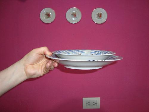 juego duo de platos porcelana magdalena