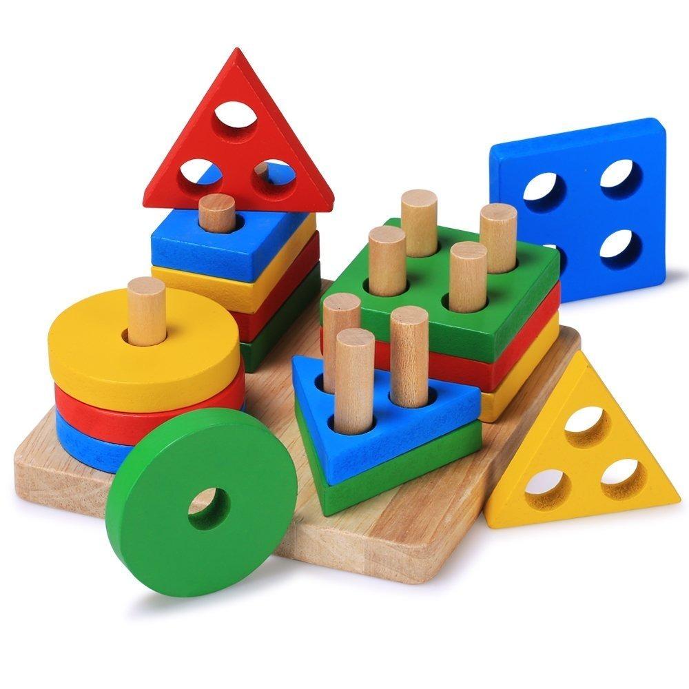 Juego Educativo De Madera Para Ninos 20 Pzas De 3 A 6 Anos