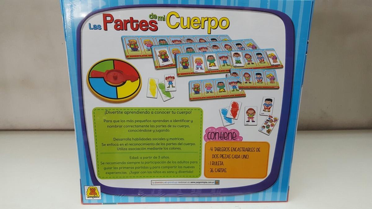 Juego Educativo Las Partes Del Cuerpo Humano July Toys - $ 275,00 en ...