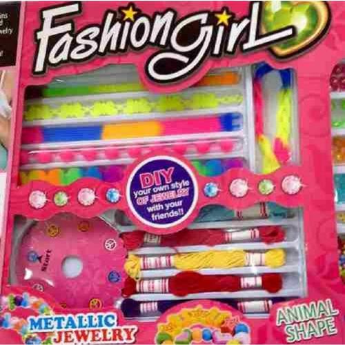 juego elaboración de joyas para niña fashion girl canvas 881