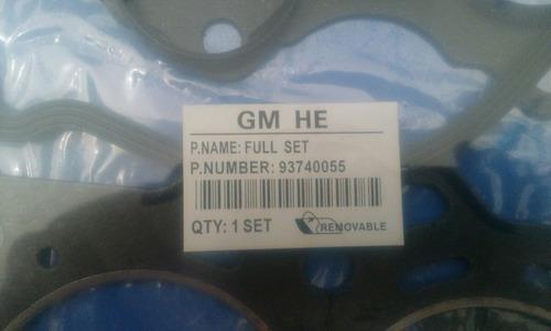 juego empacadura motor spark 93740055 rt