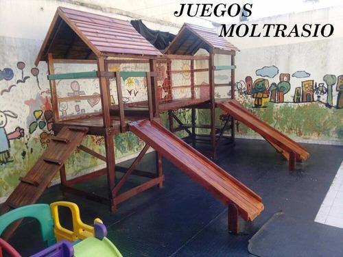 juego en madera de calidad - toboganes y trepadores