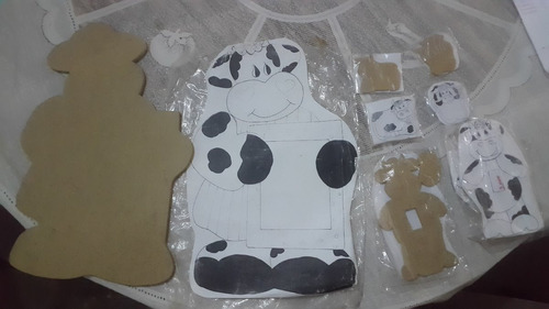 juego en mdf al crudo para pintar de vaca