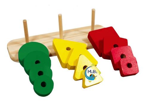 juego encastre geometrico madera didáctico ingenio bebe niño