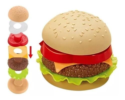 juego encastre hamburguesa  didáctico cocina niños ingenio