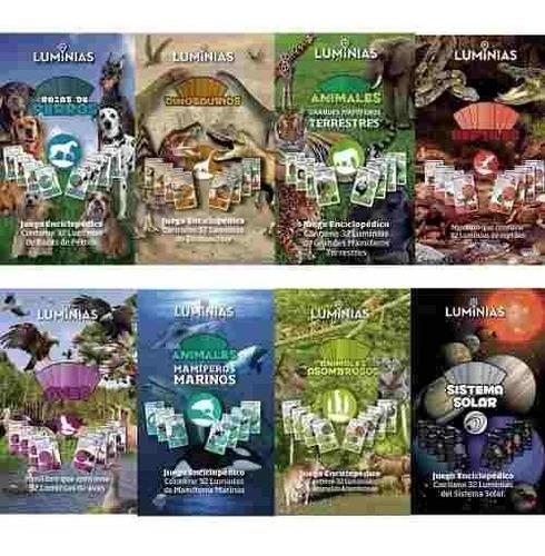 juego enciclopédico luminias 32 cartas aprender jugando