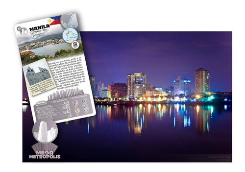 juego enciclopédico luminias 32 cartas mega metropolis