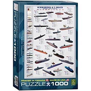 juego eurographics los submarinos y barcos u 1000 pieza del