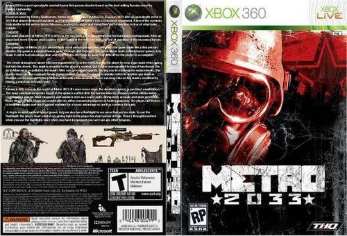 juego exbox 360 metro 2033 original. optimo