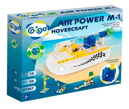 juego experimento didactico motor de aire m-1 gigo 7367