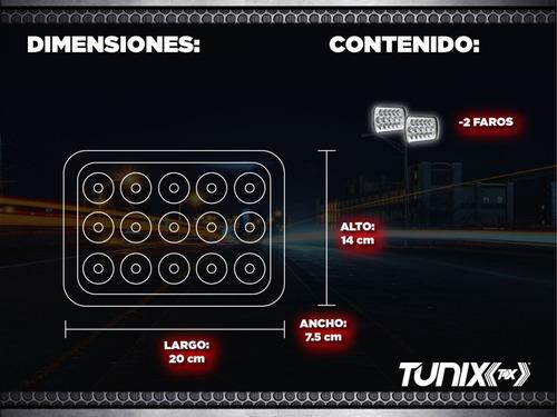 juego faros led rectangular unidad 5x7 epistar 45w