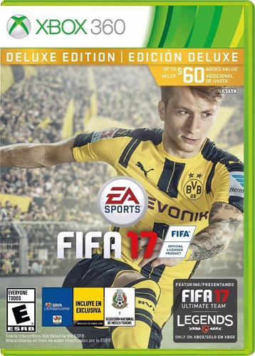 juego fifa 17 xbox 360 deluxe edition