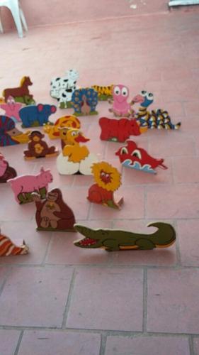 juego figuras en madera animales