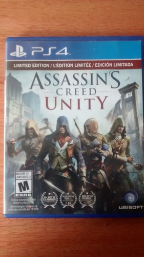 juego fisico ps4 assassin´s creed unity