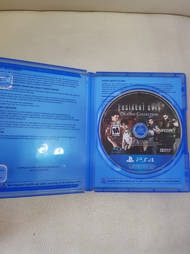 juego fisico ps4 resident evil origins collection