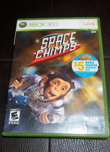 juego fisico space chimps para xbox 360 original garantia