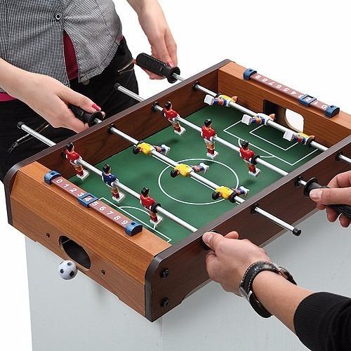 juego fulbito de mesa porttil futbolin para nios de madera