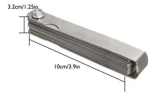 juego galgas calibrador valvulas 26 pcs 0,04 mm - 0,63 mm